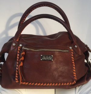 Carry Bag cognac-coloured-dark orange leather