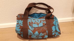 Roxy Canvas Bag brown-neon blue
