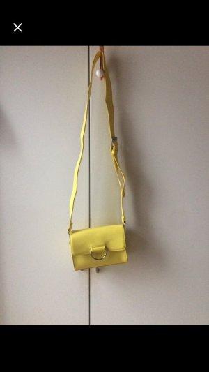 Borsa a spalla giallo-giallo pallido