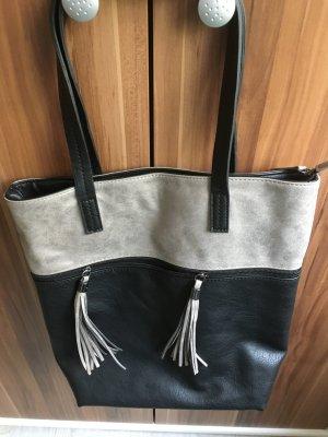 Shopper black-silver-colored