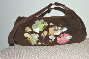 Handbag multicolored mixture fibre