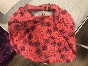 Bolso barrel rojo frambuesa