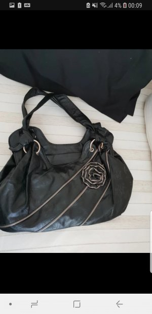 Basket Bag black-beige