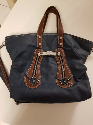 Carry Bag brown-dark blue