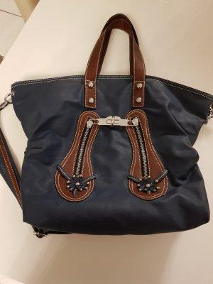 Carry Bag brown-dark blue