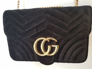 Mini Bag black-gold-colored