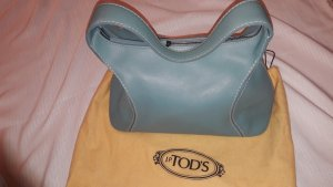 0039 Italy Pouch Bag pale blue leather