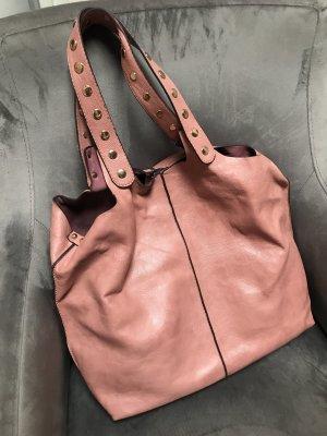 Borsa sacco color oro rosa
