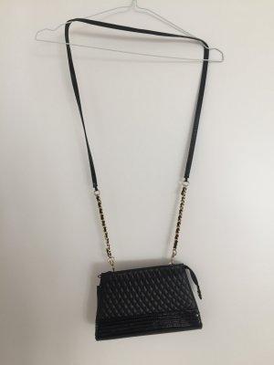 Gekruiste tas goud-zwart