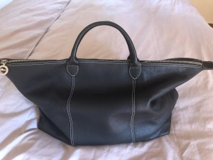 Longchamp Borsa da weekend nero-carminio Pelle