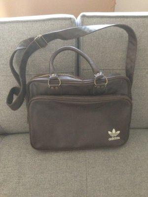 Tasche Adidas Bag braun Leder Retro