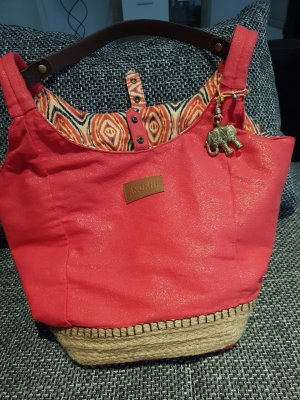 Anokhi Turn Bag brick red linen