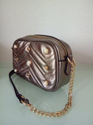 Tasche Asos Silber Perlen Strass Grau Clutch Handtasche Gold Silvester Umhängetasche