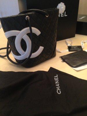 Chanel Tas zwart-wit Leer