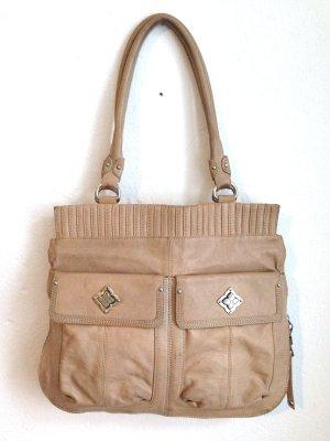 Tasche aus echtem Leder von BCBGMAXAZRIA, 32x38x12cm