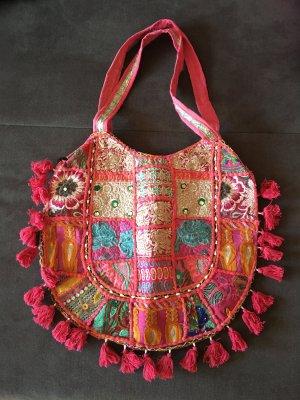 Tasche aus indischen Saris - Hippietasche