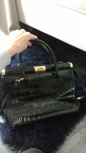 Carry Bag black imitation leather