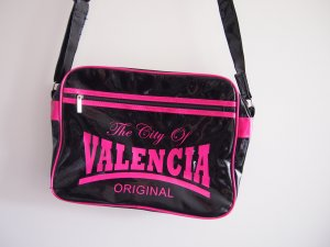 College Bag black-pink synthetic material