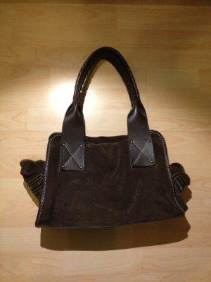 Shoulder Bag black brown-bronze-colored leather