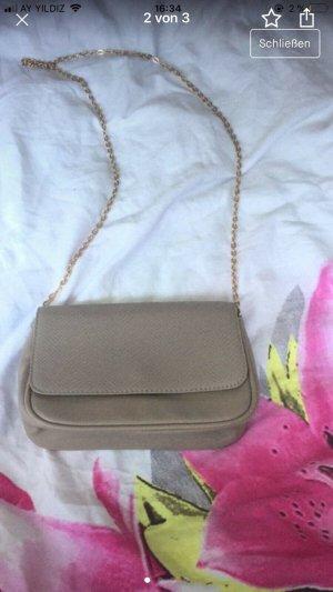 H&M Pouch Bag beige imitation leather
