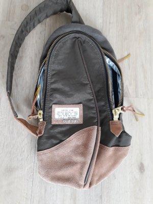 Tasche Bag Crossbody Diesel Rucksack Umhängetasche grün braun