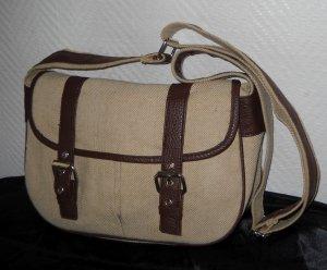 Tasche Bag Schultertasche Handtasche Leinen Optik h m beige braun Trachten Wiesn
