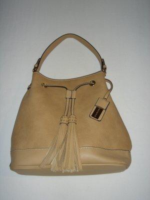 Tasche, Beutel, von Hallhuber, mit Quasten, Farbe: ocker