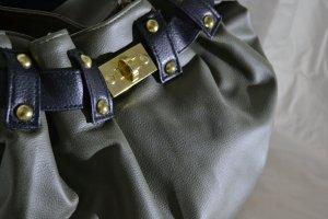 Tasche Beuteltasche Khaki Gold