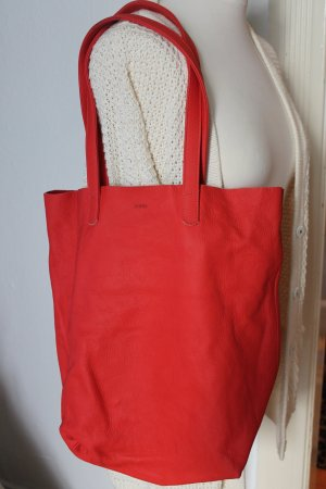 Urban Outfitters Pouch Bag neon orange-bright red leather