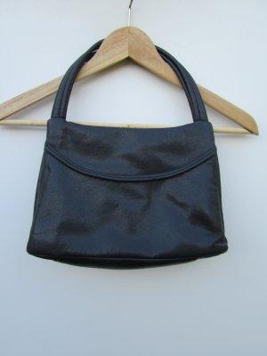 Tasche blau Leder Vintage Retro