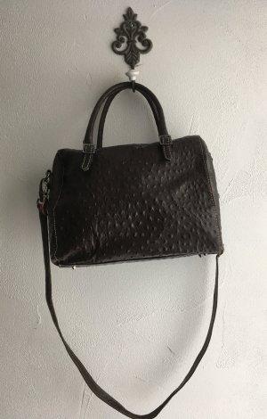 Tasche Bowlingbag von L.Credi in dunkelbraun echtes Leder