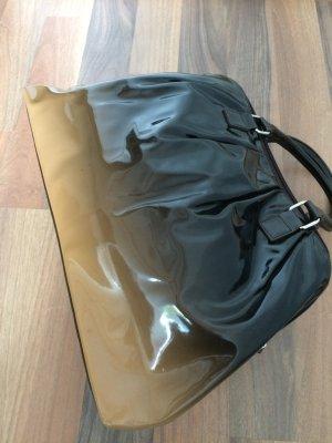 Tasche braun/beige Material Lack