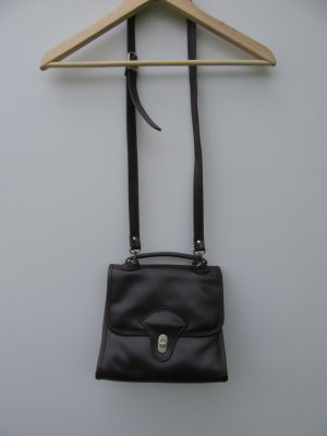 Tasche braun Leder Vintage Retro Umhängetasche
