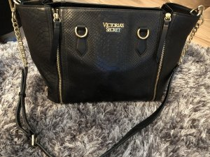 Victoria's Secret Pouch Bag black leather