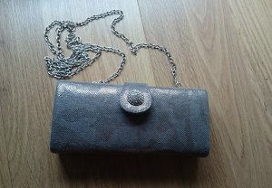 Tasche Clutch Accessorize in silber-metall Optik NEU