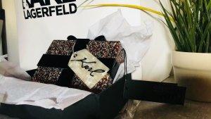 Tasche Clutch Karl Lagerfeld Acryl Geschenk Glitzer NP 155€