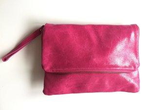 Tasche Clutch Pink Leder New