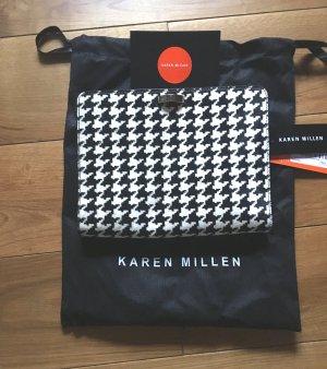 Tasche / Clutch von Karen Millen neu...Leder/Fell außergewöhnlich # letzter Preis #