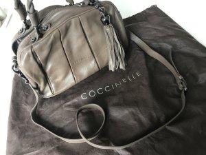 Tasche Coccinelle Shopper Umhängetasche Bag Tassel Leder Schlamm braun
