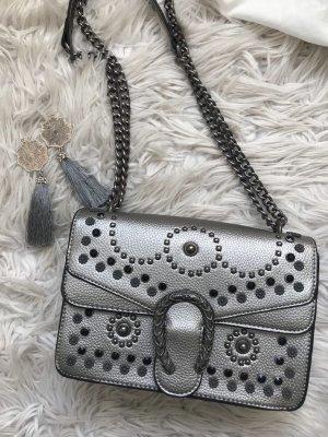 Borsetta mini argento-grigio