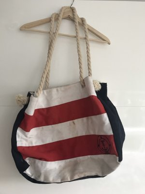 Pouch Bag white-red