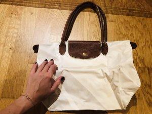 Longchamp Shopper wit-goud