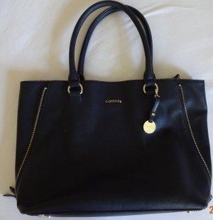 Comma Frame Bag dark blue linen