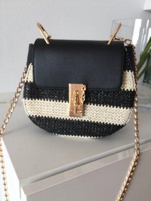 Tasche Designer lookalike Gold schwarz weiß drew bag neu