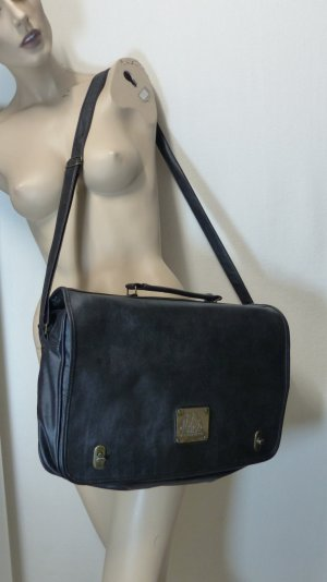 College Bag black imitation leather