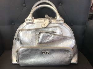 Dolce & Gabbana Bolso barrel color plata