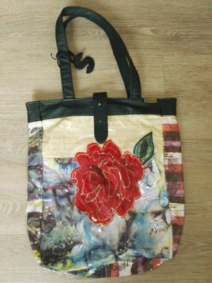 Desigual Shopper donkerrood-azuur