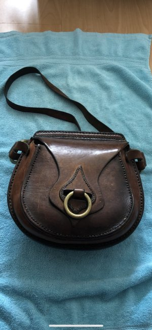 Crossbody bag brown-gold-colored
