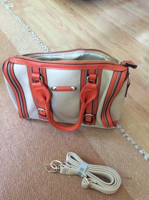 Carry Bag neon orange-oatmeal