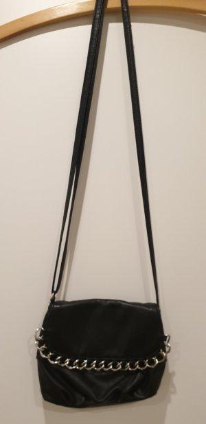 Amisu Minibolso negro-color plata
